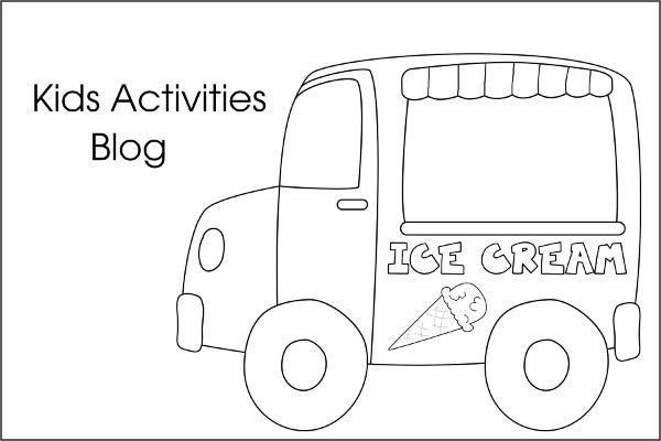 Summer Ice Cream Coloring Page