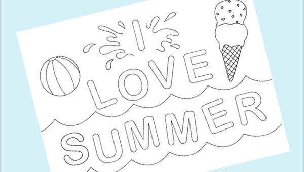 - 9+ Cool Summer Coloring Pages - PDF, PNG Free & Premium Templates