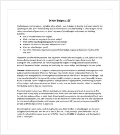private school budget template min
