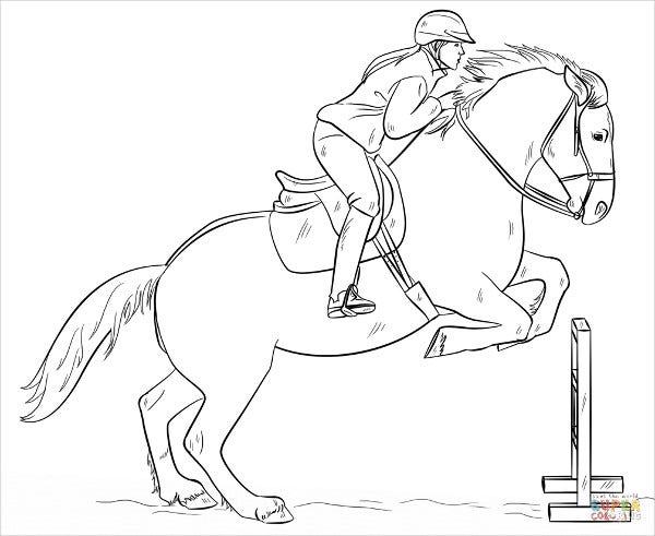 Gratis Kleurplaten Printen Paarden 9 Horse Coloring Pages Free Pdf Document Download