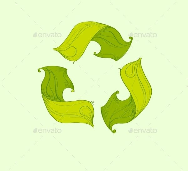 Tree Green Recycle Logo
