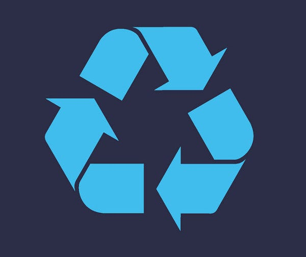 arrows recycle logo
