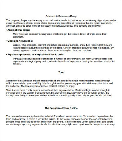 scholarship essay word pdf documents  scholarship persuasive essay template