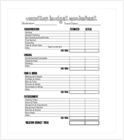vacation budget template pdf download min