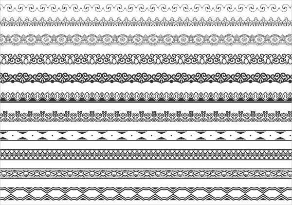 ornamental border brushes