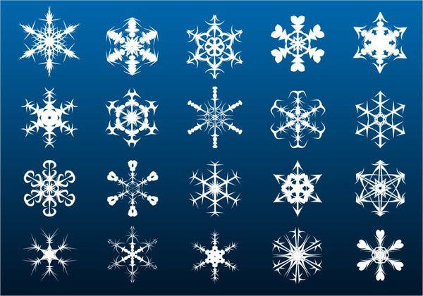 snowflake border brushes