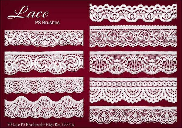 lace border brushes photoshop