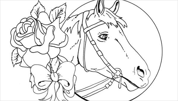 9+ Horse Coloring pages - Free PDF Document Download | Free ...