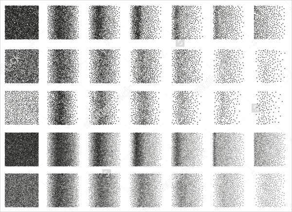 Set of 35 Square Brushes