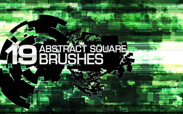 19 Abstract Square Brushes