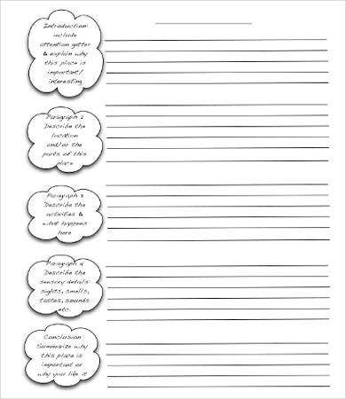 Descriptive Essay Writing Template