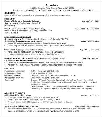 Captivating Internship IT Resume Inside Resume It