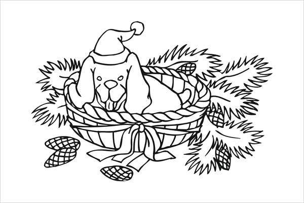 christmas-dog-coloring-page