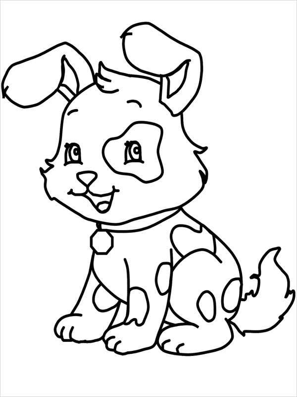 cartoon dog coloring pages
