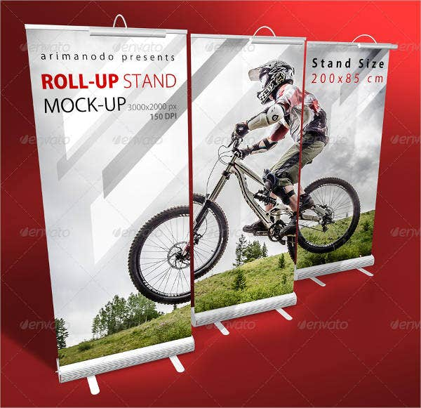Rollup Banner Stand Mockup