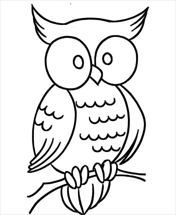 Free Printable Owl Coloring Page