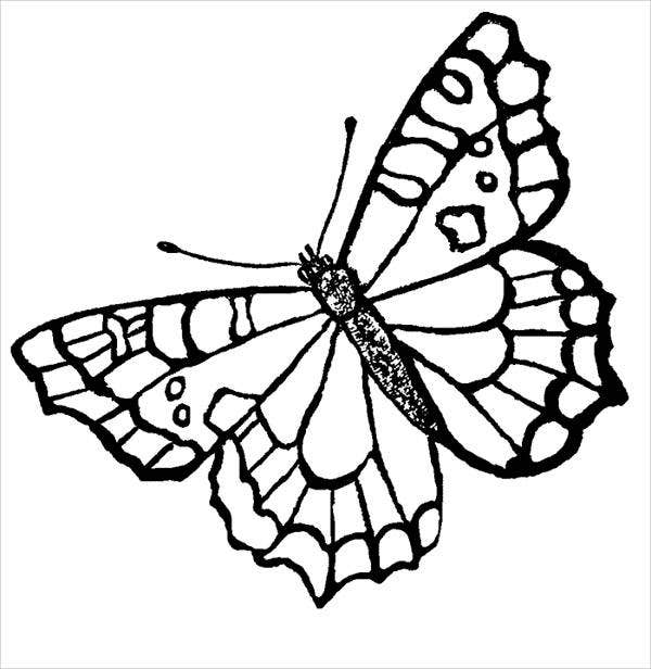 free printable butterfly coloring page - Printable Butterfly Coloring Pages