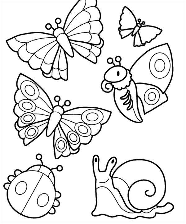 bug-and-butterfly-coloring-page