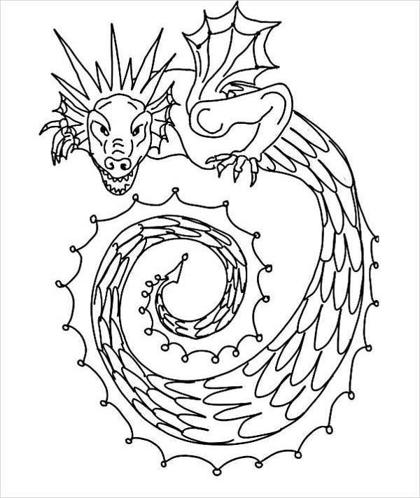 Dragon Snake Coloring Page