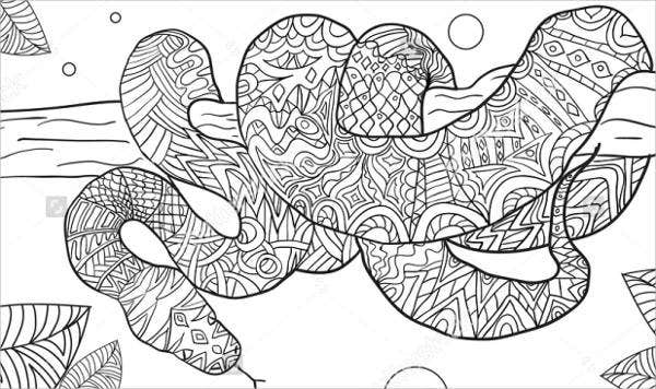 s is for snake coloring pages - photo #37