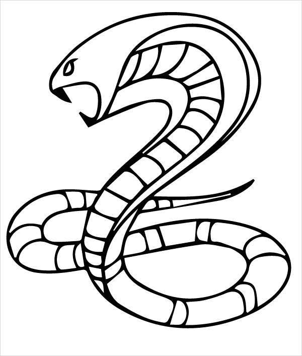 King Cobra Snake Coloring Page