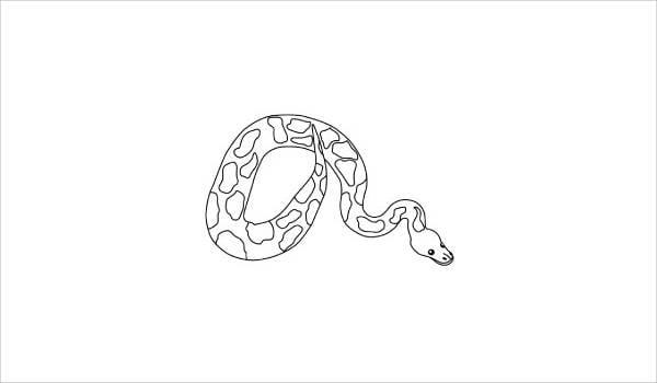 anaconda snake coloring page