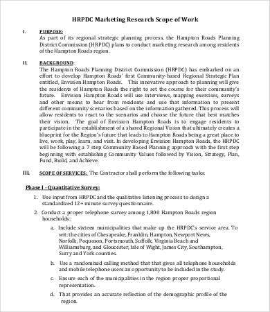 Scope of work template 14 free pdf documents download for Marketing scope of work template