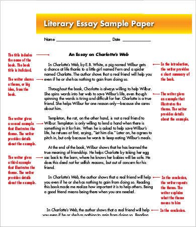 literary essay template 11 free samples examples format free premium templates - Example Of Literary Essay