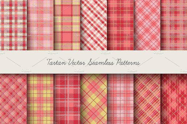 tartan seamless vector patterns