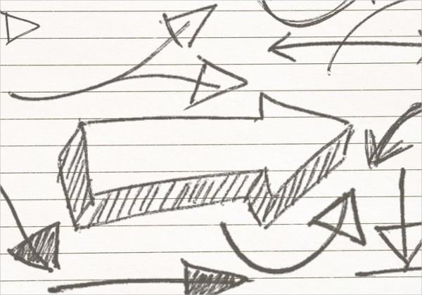 sketch arrow brushes photoshop