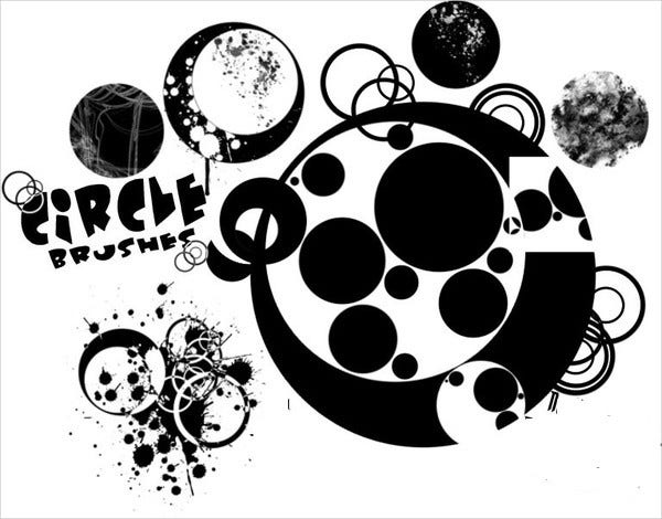 sketch circle brushes photoshop