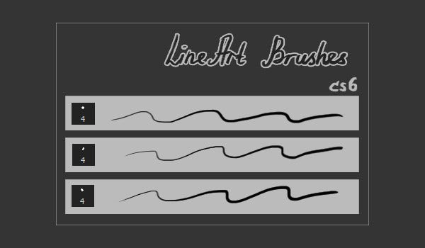 sketch lines brushes photoshop