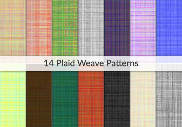 plaid weave patterns
