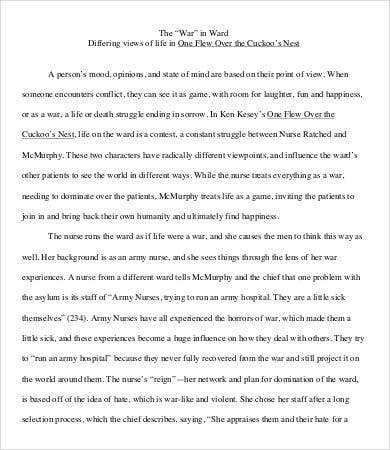 Sample Student Literary Essay