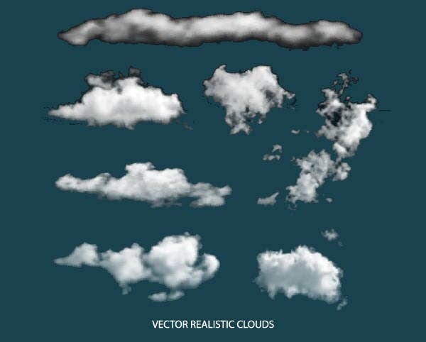realistic-cloud-vector