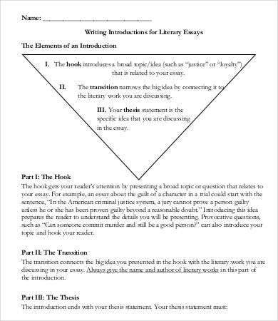 literature essay introduction