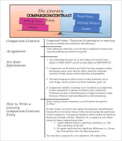 Literary Comparison Contrast Essay