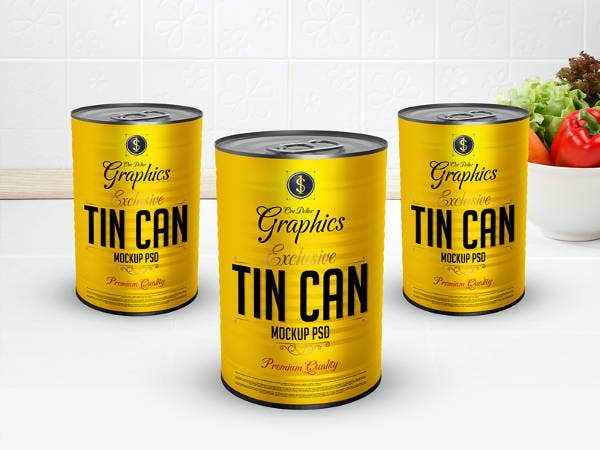 free psd tin can mockup