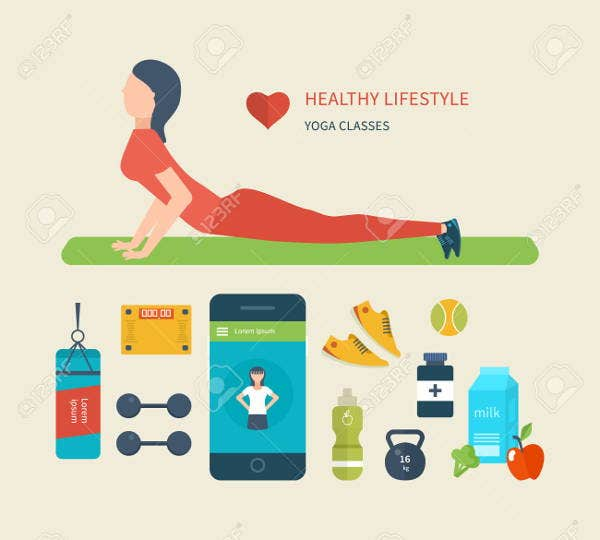 healthy and exercise icons