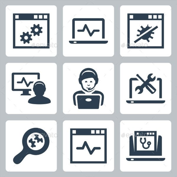 Computer Help Line Icon