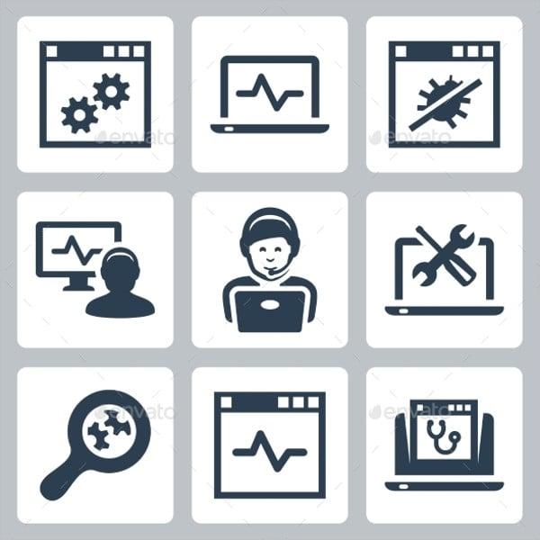 Computer Help Line Icon
