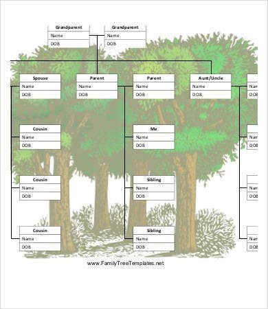 Blank royal family tree template 7 free pdf documents for Family tree templates with siblings