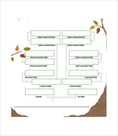 Blank Royal Family Tree Template   Free Pdf Documents Download