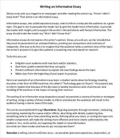 Informative Essay Template - 7+ Free Word, PDF Documents Download ...