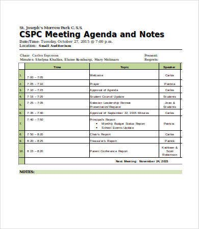 Meeting Notes Template   Free Word Pdf Documents Download
