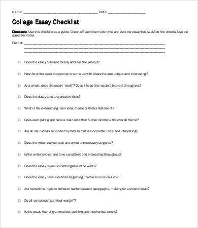 College Essay Template - 7+ Free Word, Pdf Documents Download