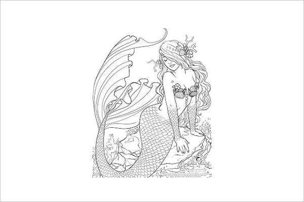 mermaid-coloring-page-for-adults