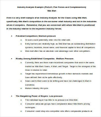 Industry Analysis Template   Free Sample Example Format  Free