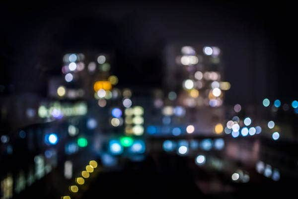 bokeh city photography