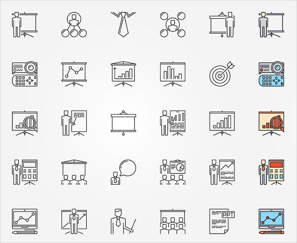 document presentation icons